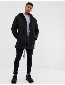 only-&-sons-parka-with-fleece-lined-hood-in-black by only-&-sons