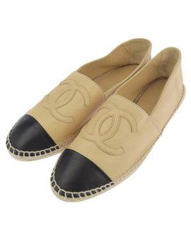 ◆ Chanel Chanel Espadrille Flattie Leather Beige 37 24cm by Rakuten Global Market