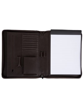 Brown Zipper Padfolio by Things Remembered