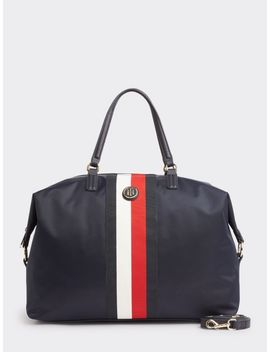 Signature Tape Weekend Bag by Tommy Hilfiger