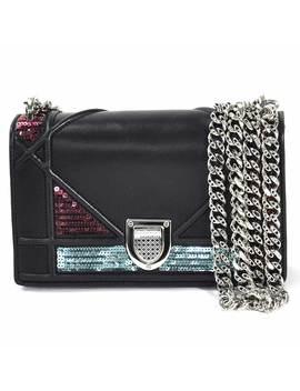 クリスチャンディオールチェーンショルダーバッグアーシカナージュ Diorama Black Leather X Spangles Christian Dior Lady's  97,005 by Rakuten Global Market