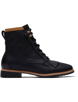 Black Leather Women's Nolita Boots by Toms