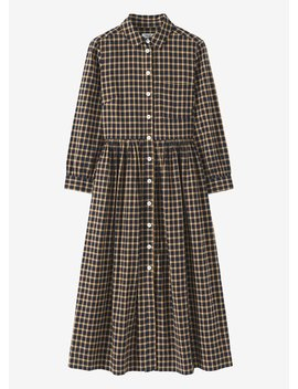 Japanese Cotton Check Shirt Dress by Toast