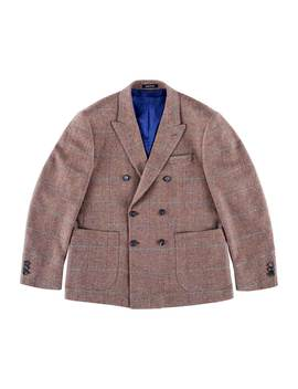 Wool Cashmere Double Breasted Sport Coat by Noah Nyc