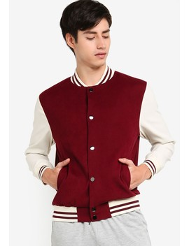 Basic Varsity Bomber Jacket by Zalora Basics