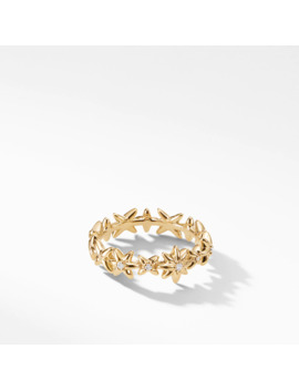 Starburst Constellation Ring In 18 K Gold With Diamonds by David Yurman