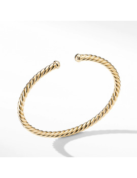 Cable Spira® Bracelet In 18 K Gold, 4mm by David Yurman