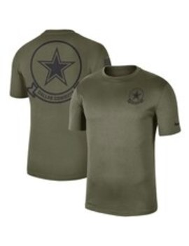 Dallas Cowboys Nike 2019 Salute To Service Sideline Seal Legend Performance T Shirt   Olive by Nike