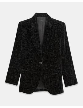 Dot Velvet Cinched Blazer by Theory