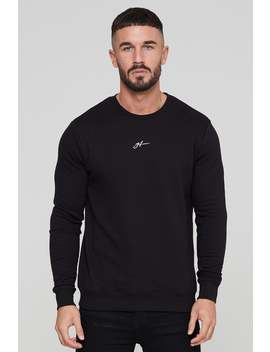 Basic Autograph Black Sweatshirt by Good For Nothing Mens