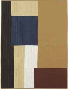 Shay Patchwork Quilt Blanket   Mustard by Ferm Living