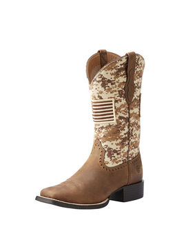 Round Up Patriot Western Boot by Ariat