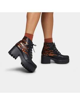 Logi Flame Platform Boots 🔥 by Koi Footwear