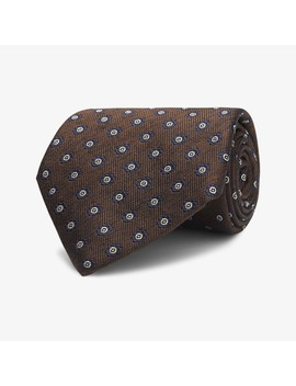 Brown Flower Tie by Suitsupply