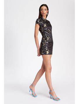 The Mattie Mini Dress – Black Jacquard by Lioness Fashion