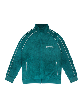 Track Jacket Terry Bridge Green Emerald by Wasted
