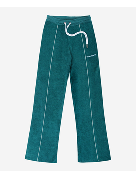 Wm Tracksuit Pant Terry Green Emerald by Wasted