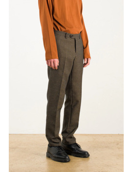 Menswear | Esko Check Trousers, Brown by Olive