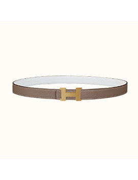 Mini Constance Guillochee Belt Buckle & Reversible Leather Strap 24 Mm by Hermès