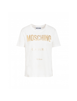 T Shirt In Jersey Moschino Couture by Moschino