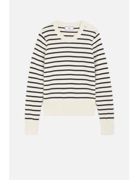Women's Crewneck Striped Sweater by Ami Paris