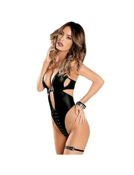 Escante Stretchy Wet Look Body Set by Lovehoney