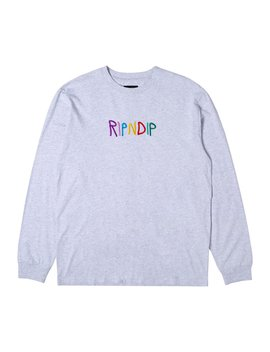 Emb Logo L/S (Heather Gray) by Ripndip