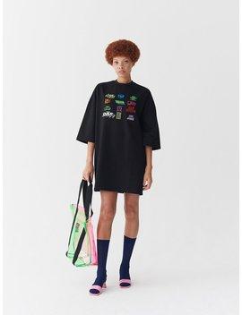 Lazy Oaf Playing Games T Shirt Dress by Lazy Oaf