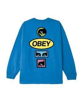 Obey Stacked Basic Ls T Shirt by Obey