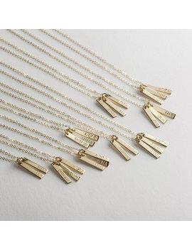 Ono Tiny Bar Tag Necklace by Gldn