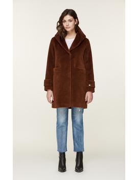 Mirella Embossed Wool Coat With Hood by Soia & Kyo