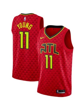 Men's Atlanta Hawks Trae Young Nike Red 2019/2020 Swingman Jersey   Statement Edition by Nba Store