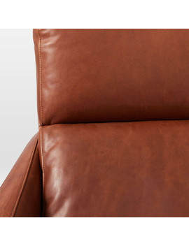 Austin Leather Swivel Armchair by West Elm