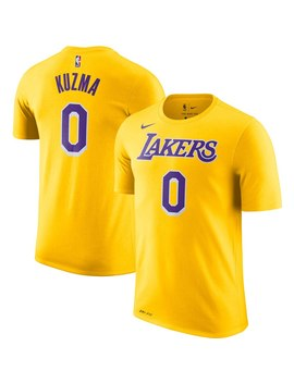 Men's Los Angeles Lakers Kyle Kuzma Nike Gold Player Name & Number Performance T Shirt by Nba Store