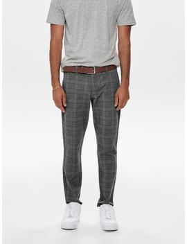 Stretchy Checkered Pants by Only & Sons