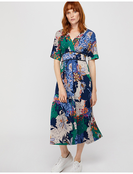 Frida Jersey Print Midi Dress by Monsoon