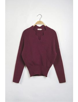 The Reichenbach Jumper(Burgundy) by Miss Patina