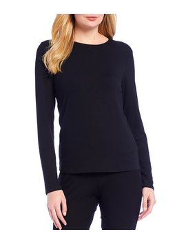 crew-neck-jersey-long-sleeve-top by eileen-fisher