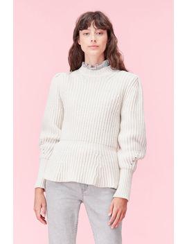 La Vie Merino Ribbed Pullover by Rebecca Taylor
