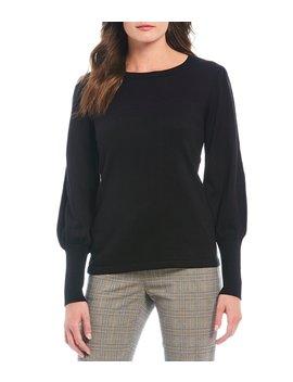 kyra-balloon-sleeve-knit-sweater by alex-marie