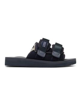 navy-sherpa-moto-mab-sandals by suicoke
