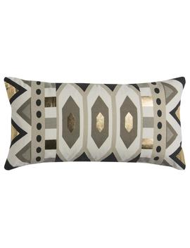 """rachel-kate-by-rizzy-home-decorative-poly-filled-throw-pillow-geometric-11""""x21""""-gray by rachel-kate"""