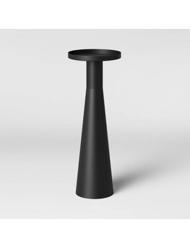 alester-round-smooth-metal-drink-table-black---project-62 by project-62