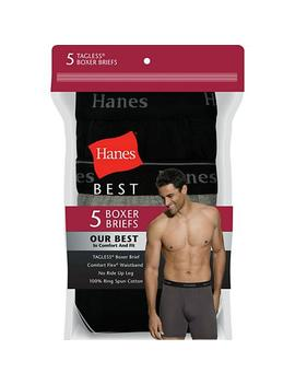 Hanes Best 5 Pack Boxer Brief (Assorted Colors) by Hanes