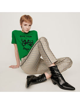 lurex-jacquard-pants by maje