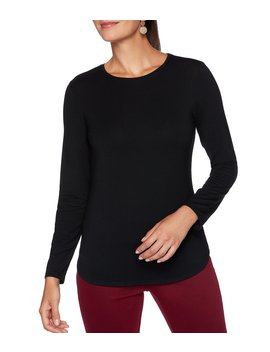 solid-crew-neck-long-sleeve-top by ruby-rd