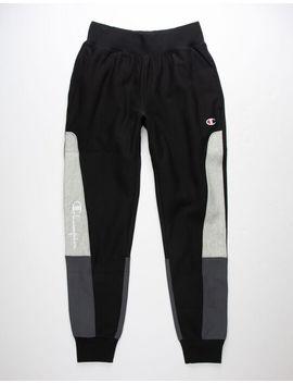 champion-side-block-black-mens-sweat-pants by champion