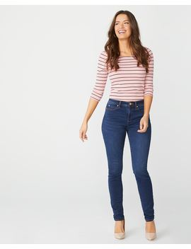 Natalie Mid Rise Jegging In Rinse Wash Denim   32'' by Rw & Co