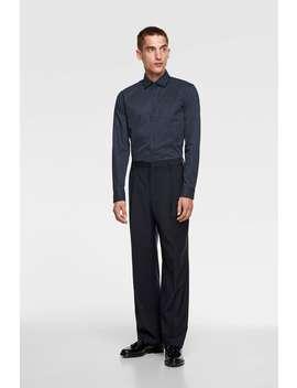 star-print-double-collar-shirt by zara