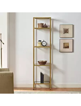 crosley-aimee-narrow-etagere-in-gold by bed-bath-and-beyond